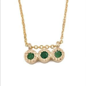 love audry rose Jewelry - Love Audry Rose Emerald Triplet Necklace